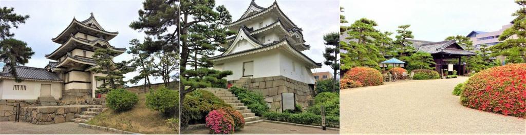 高松城、現存する月見櫓・艮櫓、重要文化財の披雲閣