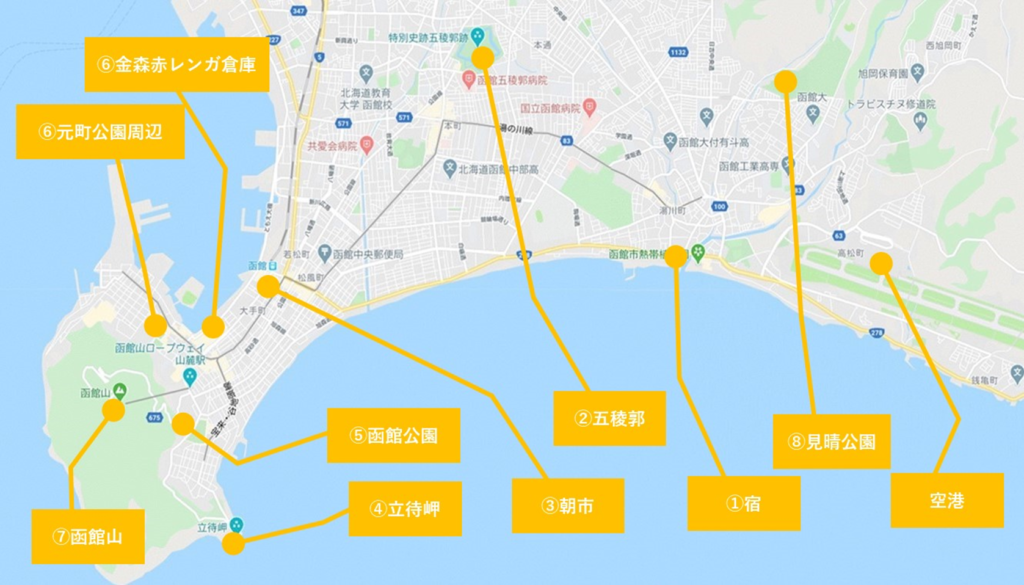 函館観光ルート