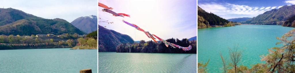猿ヶ京温泉の目の前の赤谷湖